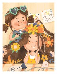 Children's Book Illustration, Character Illustration, Cute Girl Illustration, Girl Cartoon, Cartoon Art, Cartoon Wallpaper, Anime Art Girl, Cute Drawings, Cute Art