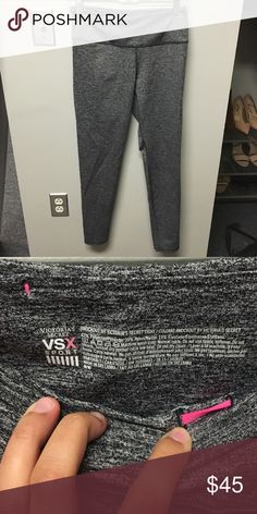 Victoria's Secret Kockout Tight Gray VS Knockout Sports Tights. Only worn twice. Excellent condition. Size medium. Victoria's Secret Pants Leggings