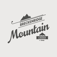 Breckenridge Ski Resort: Logo Explorations via Stopbreathing//I like the little lodge part