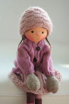 Knitted doll Flo 14 by Peperuda dolls by danielapetrova on Etsy