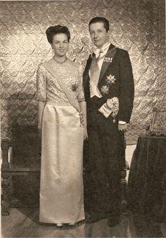 Princess Anne, Duchess of Calabria, and her husband Infante Carlos, Duke of Calabria