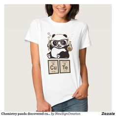 Chemistry panda discovered cute, funny t-shirt, chemistry, panda, cute, kawai, geek, chemistry elements, humor, gift, unique, nerd