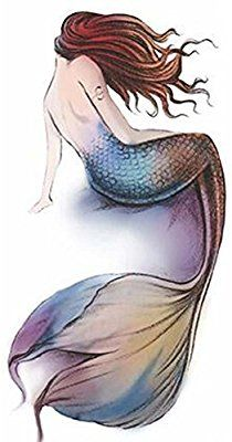 Amazon.com : Mermaid Tattoo Stickers Individual Styles Temporary Tattoos Tattoo Design Women : Beauty