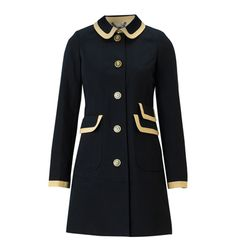 www.hobbs.co.uk   NW3 PRIORS COAT    NOW £129.00 (was £189.00)  This substantial deep navy coat is one to love. The swing back inverted box pleat and structured shape make this an exceptionally tailored piece. Large embossed buttons and contrast trim peter pan collar, sleeves and pockets add definition to the rich ottoman cotton fabric. The hallmark NW3 attention to detail is affirmed with the half quilted interior and NW3 cotton lining.