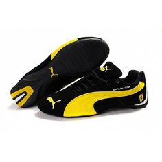 48ce1af441984a Puma black and yellow Ferrari sneakers