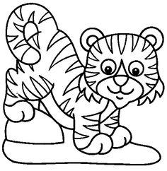 tiger coloring page 04 Preschool Pinterest Tigers