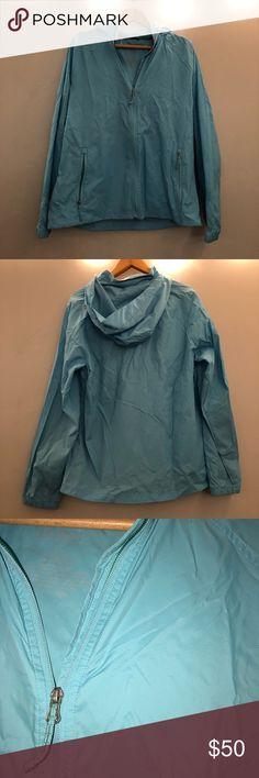 LL BEAN rain coat (LIKE NEW) LIKE NEW Windbreaker ll bean coat that can also be used as a rain jacket! Fits to size, worn twice. Flash photo to show accurate color. No holes or stains. L.L. Bean Jackets & Coats Utility Jackets
