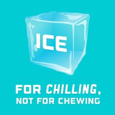 If you find that despite your best efforts you can't overcome an ice chewing addiction, try substituting something a softer that you can suck on more slowly such as a popsicle or other frozen treat. Another option is to continue to enjoy ice cubes by allowing them to melt in your mouth rather than biting down on them and risking a painful tooth fracture. #Drjsbraceplace