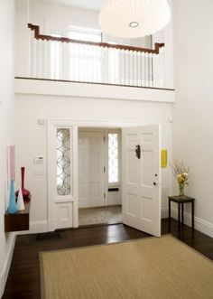 Vestibules between outdoors and in are a good idea. They keep unwanted strangers from seeing inside your home and it keeps pets and toddlers inside while you answer the door. It is also a weather block to temper cold winter blasts from the main house.