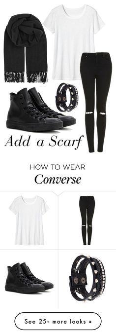"""Add a Scarf"" by andreeaaaaaaa on Polyvore featuring Toast, Topshop, BeckSöndergaard, Converse and Diesel"