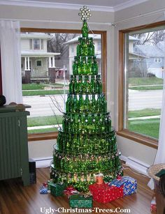 The architecture looks wrong outside but this Beer Bottle Christmas Tree would be right at home in Oz ;)