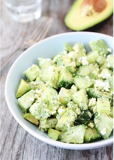 avocado feta salad
