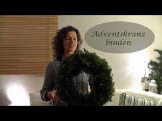 DIY - Adventskranz natürlich schön im Shabby Naturlook mit einem Hauch Weiß - YouTube