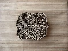 Elephant Tjaps Stamp  Wooden Hand Carved Textile / Animal Stamp $26.00 USD by theDelhiStore, based in India and selling on Etsy