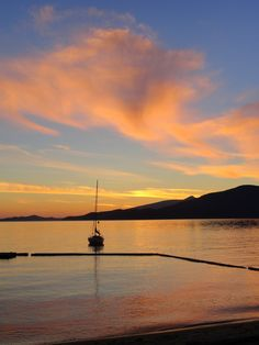 Lions Bay - British Columbia  A beautiful October Sunset - photo/Lucie