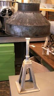 jack stand and milk strainer lamp