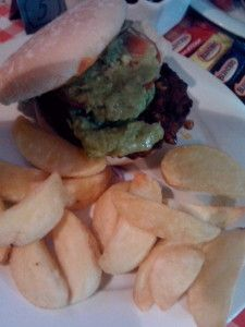 Eating out and found this most tasty veggie burger. It's nuts burger with avocado salsa - IFI , Dublin Veggie World, Best Veggie Burger, Dublin, Salsa, Avocado, Veggies, Tasty, Ethnic Recipes, Food