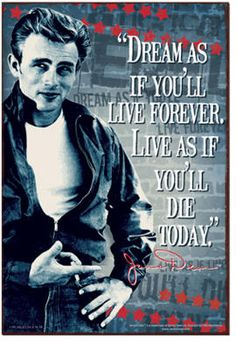 James Dean is Amazing! James Dean Quotes, Quotes To Live By, Life Quotes, Vintage Tin Signs, Retro Vintage, Actor James, Live Laugh Love, Famous Quotes, Old Hollywood