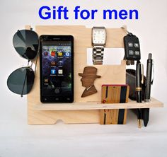 Husband Gift Ideas Mens Gift Ideas Desk by WoodenGiftsCreations