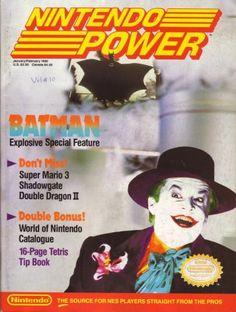Nintendo Power (January/February Featuring the Batman video game for NES Vintage Video Games, Classic Video Games, Retro Video Games, Retro Games, Video Game Magazines, Gaming Magazines, Video Game Posters, Video Game Art, Keaton Batman