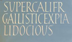 Joshua Larkum lettering