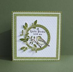 Cute Cards, Cards Diy, Embossed Cards, Bird Cards, Paper Cards, Scrapbook Cards, Homemade Cards, Stampin Up Cards, Making Ideas