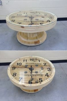 Tables Pallet If any space in your home is in need of any kind of table either big or small then how about doing some recycling? A cable spool can be transformed into a
