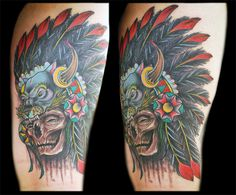 Tattoo collaboration by Dave Tedder and Josh Lindley. www.AllOrNothingTattoo.com