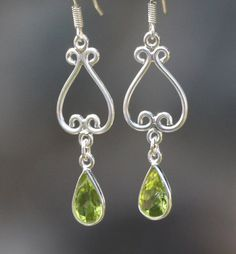These beautiful earrings in our Sari Stone String collection are handmade in a small home-based workshop in the historic old city of Jaipur, India. Gemstone Earrings, Drop Earrings, Beautiful Earrings, Peridot, Chakra, Beautiful Things, Pendant Necklace, Gemstones, Silver