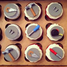 Handyman Cupcakes on Cake Central                                                                                                                                                     More