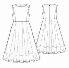Приталенное платье для девочки выкройка