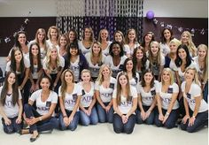 Alpha Pi Phi active's during fall rush 2013.