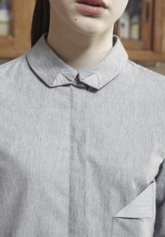 """AKIN TO _______  AW15 """"Plomb"""" Collection   Detail collar"""