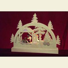 Candle Arches Fret Saw Work Mini LED ight-Arch Lumberjack - 23x15x4,5 cm / 9x6x2 inches