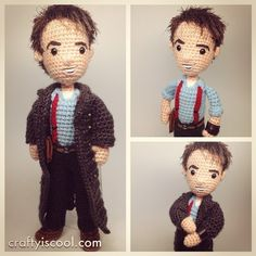 Just finished #captainjackharkness for my #doctorwho #amigurumi collection! #crochet #torchwood @johnscotbarrowman (pattern next week!)