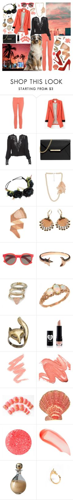 """""""I live to love and adore you"""" by aquabatgirl ❤ liked on Polyvore featuring South Beach, James Jeans, Haute Hippie, Christian Louboutin, MICHAEL Michael Kors, Wolford, Rosita Bonita, Illesteva, Pamela Love and GUESS"""