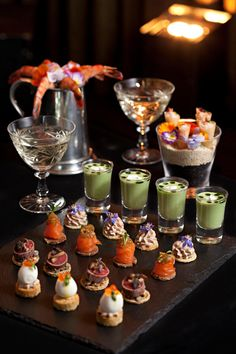 A selection of canapes created by Anton Manganaro