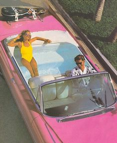 Let's car pool. Only because it reminds me of the barbie car I begged my parents for with the jacuzzi in the back. Let's car pool. Only because it reminds me of the barbie car I begged my parents for with the jacuzzi in the back.