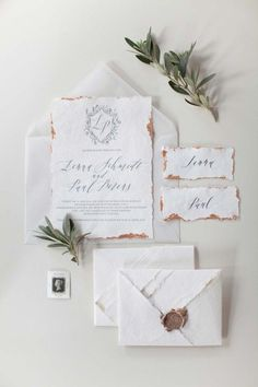 poetic wedding invitations by Poesie der Feder