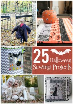 From DIY kids costumes to Halloween decor ideas -- 25 Frightfully Fun Halloween Sewing Projects