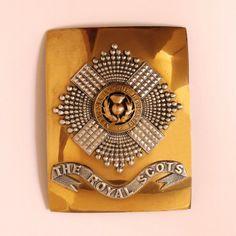 The Royal Scots Officers Shoulder Belt Plate