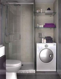 Tiny house bathroom - Looking for small bathroom ideas? Take a look at our pick of the best small bathroom design ideas to inspire you before you start redecorating. Laundry Room Bathroom, Tiny House Bathroom, Bathroom Layout, Modern Bathroom Design, Small Bathrooms, Bathroom Designs, Bath Room, Bathroom Storage, Shower Bathroom
