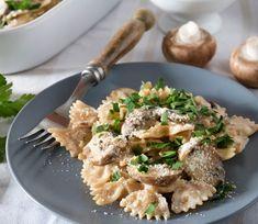 Recetas rápidas, ricas y saludables. Pasta con salsa de setas