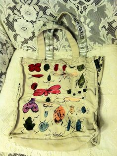 Loop Andy Warhol Happy Bug Day Tote with Banana Change Purse  on Etsy, $24.11