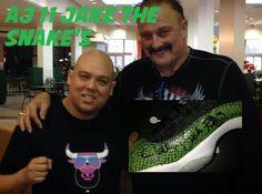 THE SNEAKER ADDICT: Dj Delz Gets Air Jordan 11 Snakeskin Shoe Signed B...