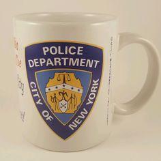 City of New York Police Department Coffee Cup Mug Merchandise Souvenir Joke NYPD