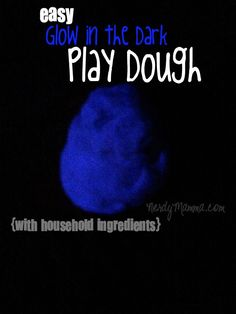 My kids flipped when I made this easy glow in the dark play dough. It's only 3 ingredients and they were all ALREADY in my house! Awesome.