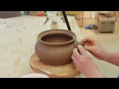 ▶ Attaching Handles - How to Make a Pottery Casserole Dish - Part 6 - YouTube