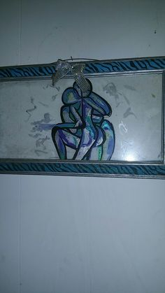Acrylic paint on old picture frame's glass that I did 6 years ago. Still 1 of my favorite pieces!