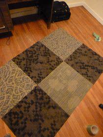 Most genius idea ever. Duct tape + carpet samples = area rug.